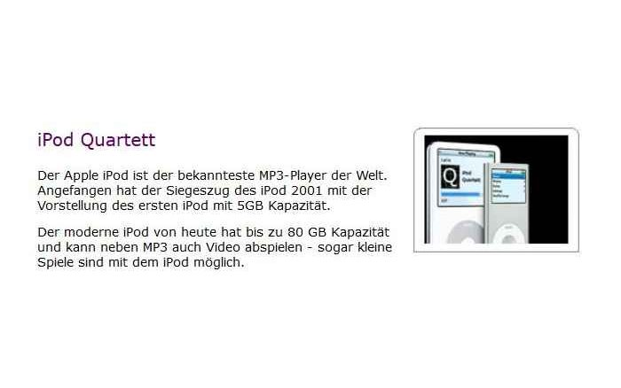 ipod quartett