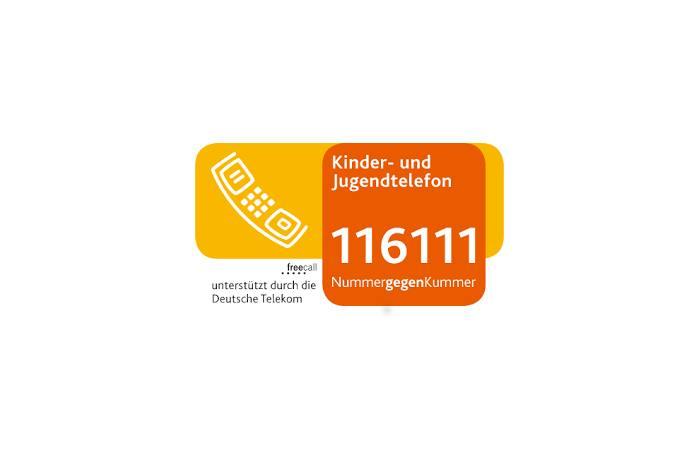 116 111 - Bundesweit einheitliche Rufnummer für Jugend-Hotline bei Kummer und Not