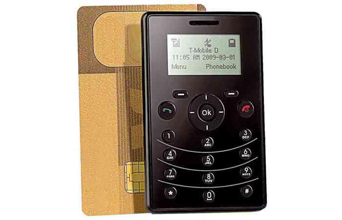 Klein und günstig - Vertragsfreies Handy im Scheckkartenformat für unter 17 Euro