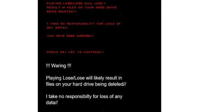 Irrsinniges Ballerspiel Lose/Lose - Spieler zerstören ihre eigenen Dateien