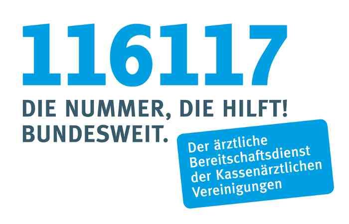 116 117 - Bundeseinheitliche Rufnummer für ärztlichen Bereitschaftsdienst