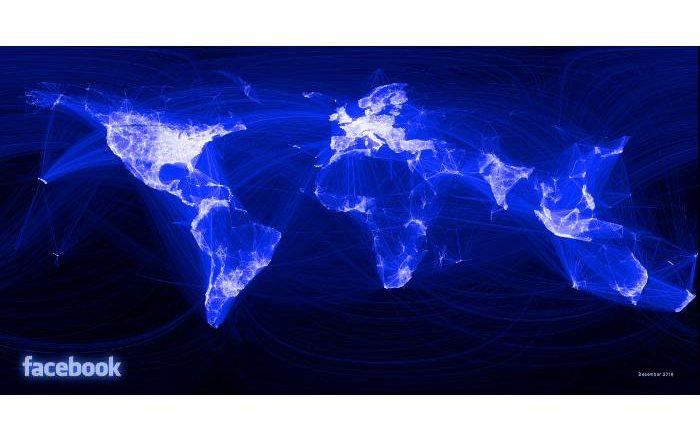 Facebook Weltkarte 2010
