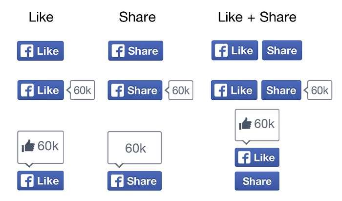 f ersetzt Daumen - Facebook ändert Like- und Share-Button
