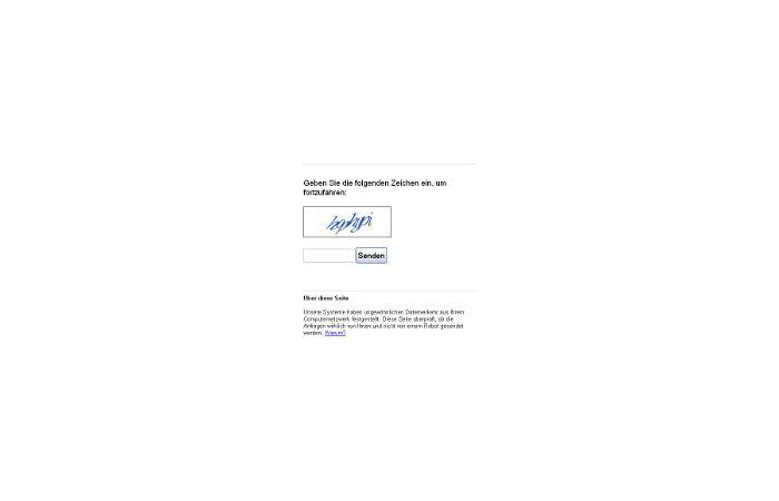 Nutzer erhalten bei Google Captcha statt Suchergebnisse