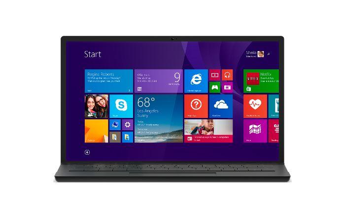 Startbildschirm des neuen Windows 8 Betriebssystems von Microsoft