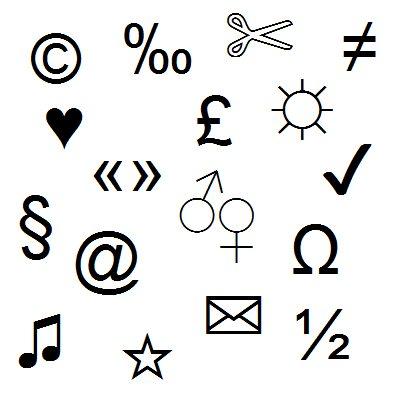 Tastatur Sonderzeichen