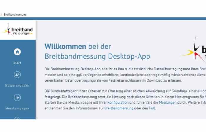 Geschwindigkeitskontrolle Internetzugang – Überprüfung per Desktop-App