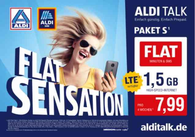 Aldi Talk - neue günstige Flatrate für acht Euro