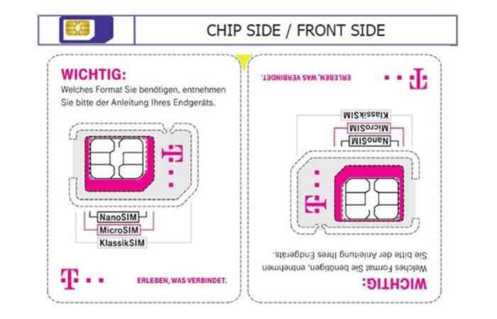 Neues Format für die SIM-Halterung – Telekom reduziert Plastikanteil