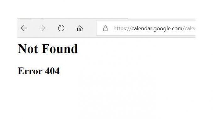 google kalender 404