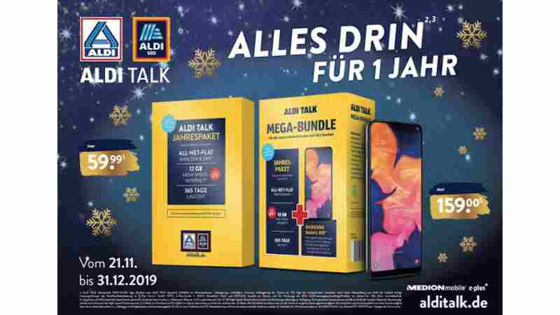Angebot von Aldi Talk – Prepaid-Produkt im Jahrespaket für 59,99 Euro