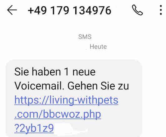 """Warnung – Aktuelle Betrugsmasche """"Neue Voicemail""""-SMS"""